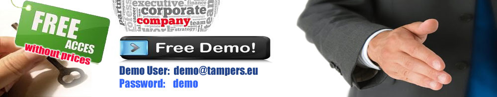 Demo User:demo@tampers.org  Pass:demo